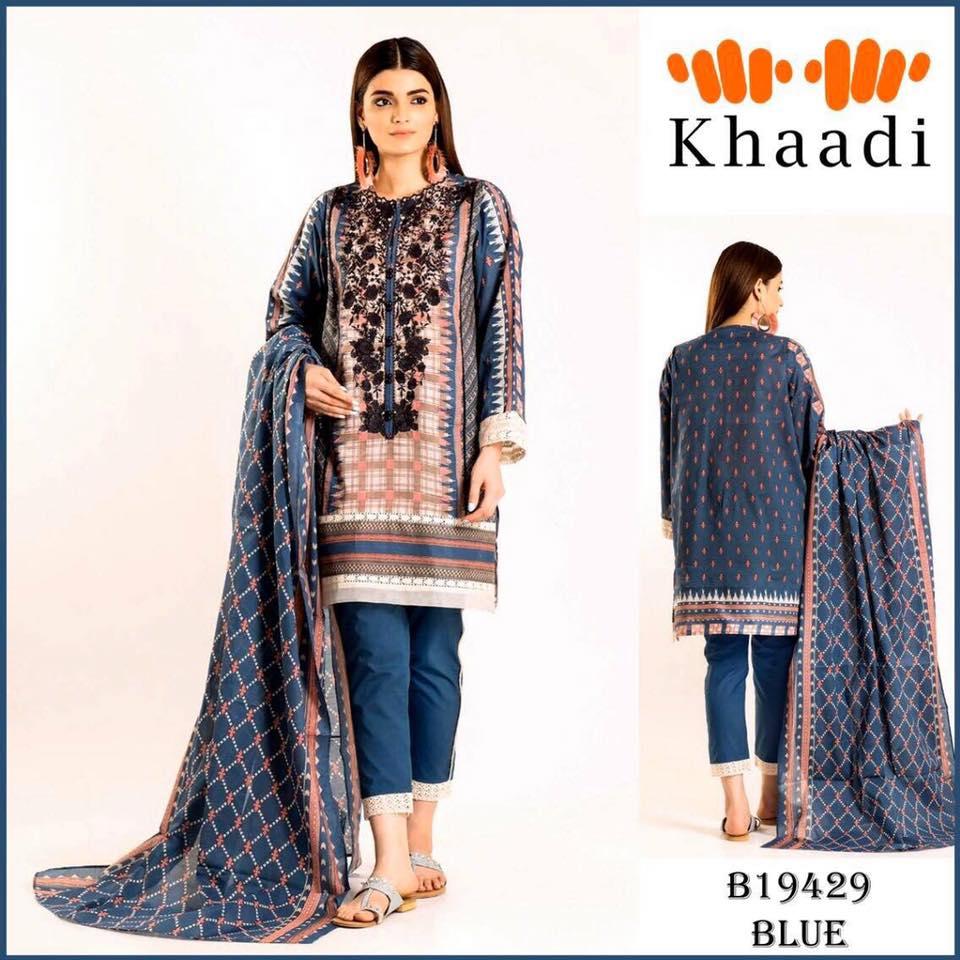 Brand Khaadi Vol'20 Available in Lawn Dress Fabrics 3pc, New ...